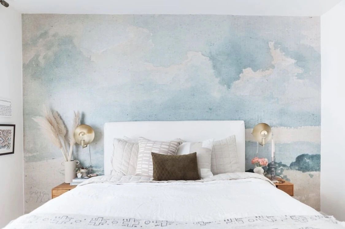 3D Blue Painting CC217 Ceiling Wallpaper Removable Self Adhesive Wallpaper Large Peel /& Stick Wallpaper Wallpaper Mural AJ WALLPAPERS