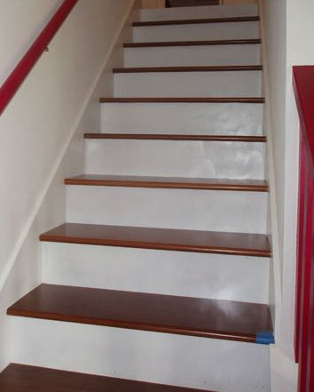 Add Metal Balusters, Railings, or Posts to Your Stairs on tile on risers of stairs, wood mosaic tiles on stairs, tile stair designs,