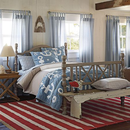 Nautical Red White And Blue Photo Courtesy Of Home Decor Design
