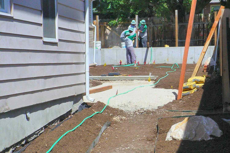 colocación de cimientos