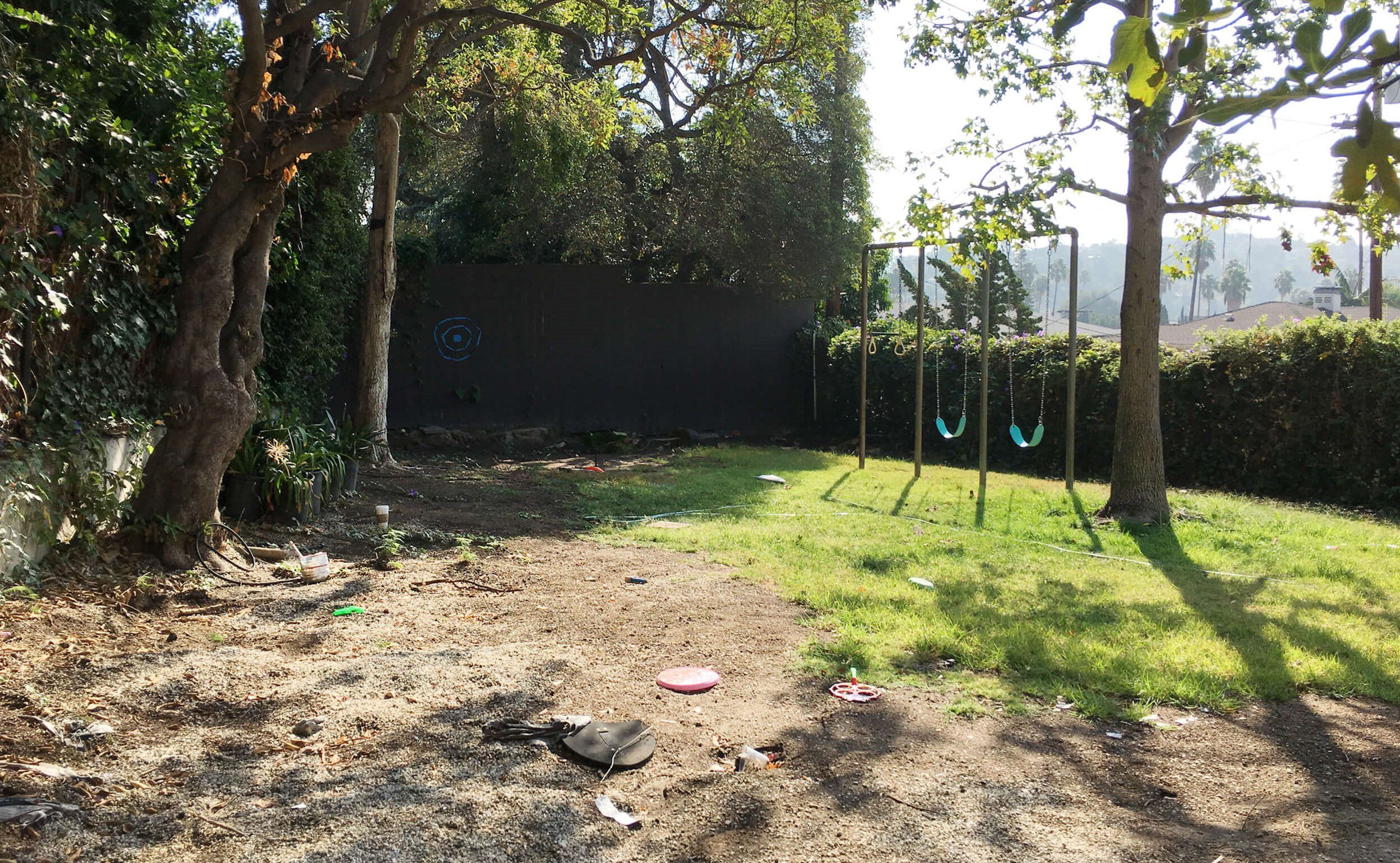 Cambio de imagen del patio amigable para los niños - Antes