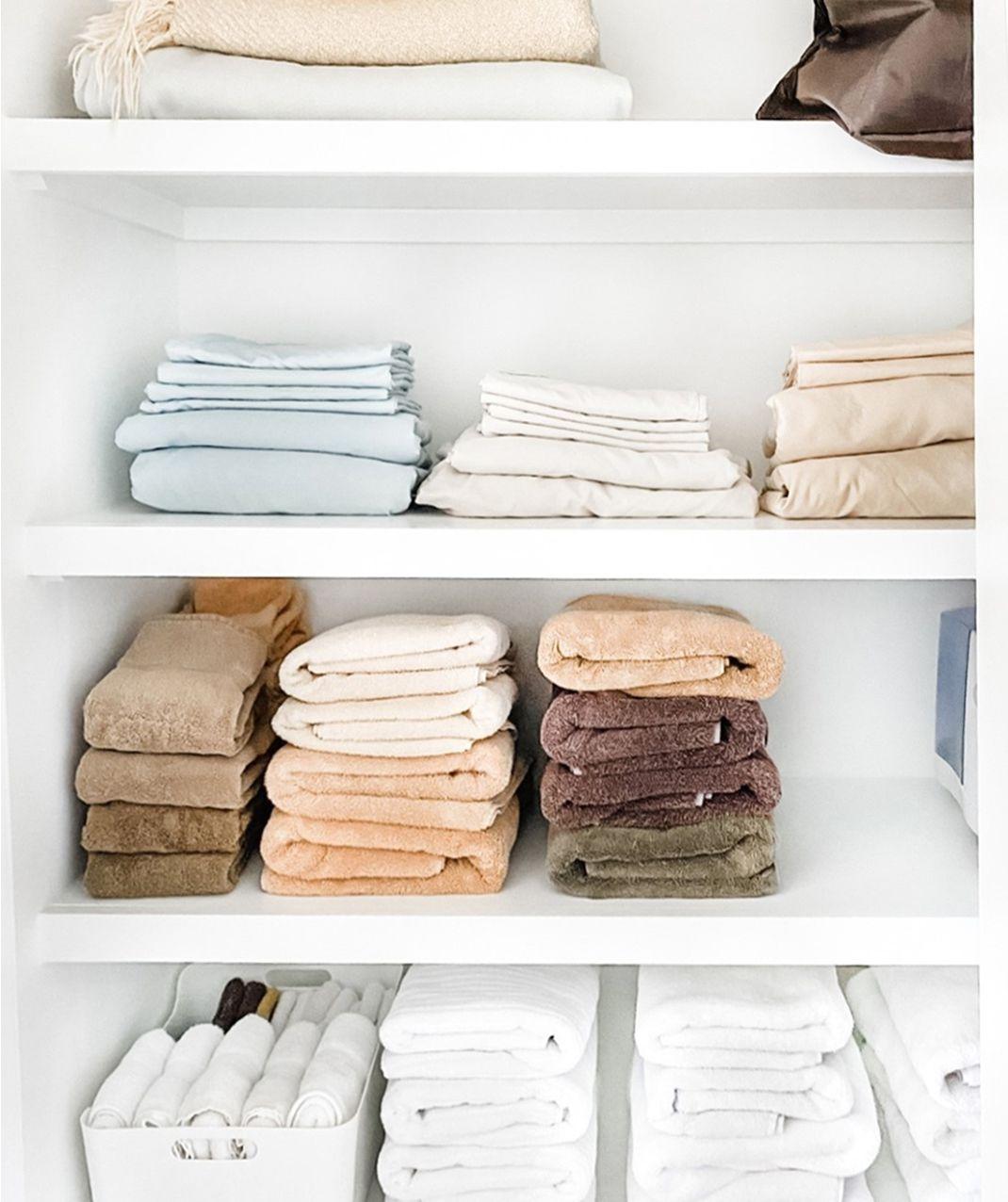 neatly folded linens