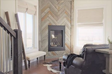 Real Reclaimed Barn Wood Fireplace