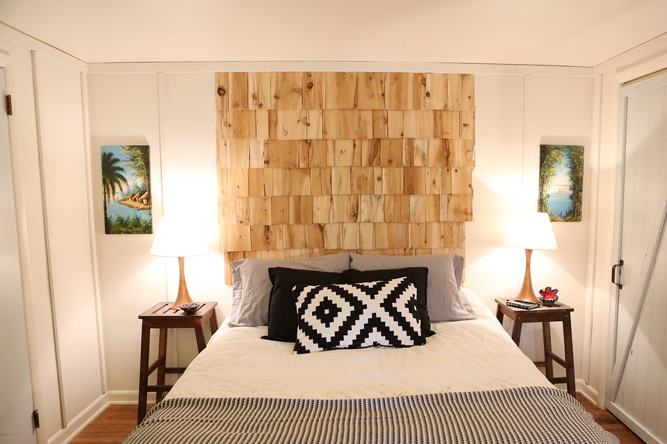 Cedar Shingle Diy Headboard
