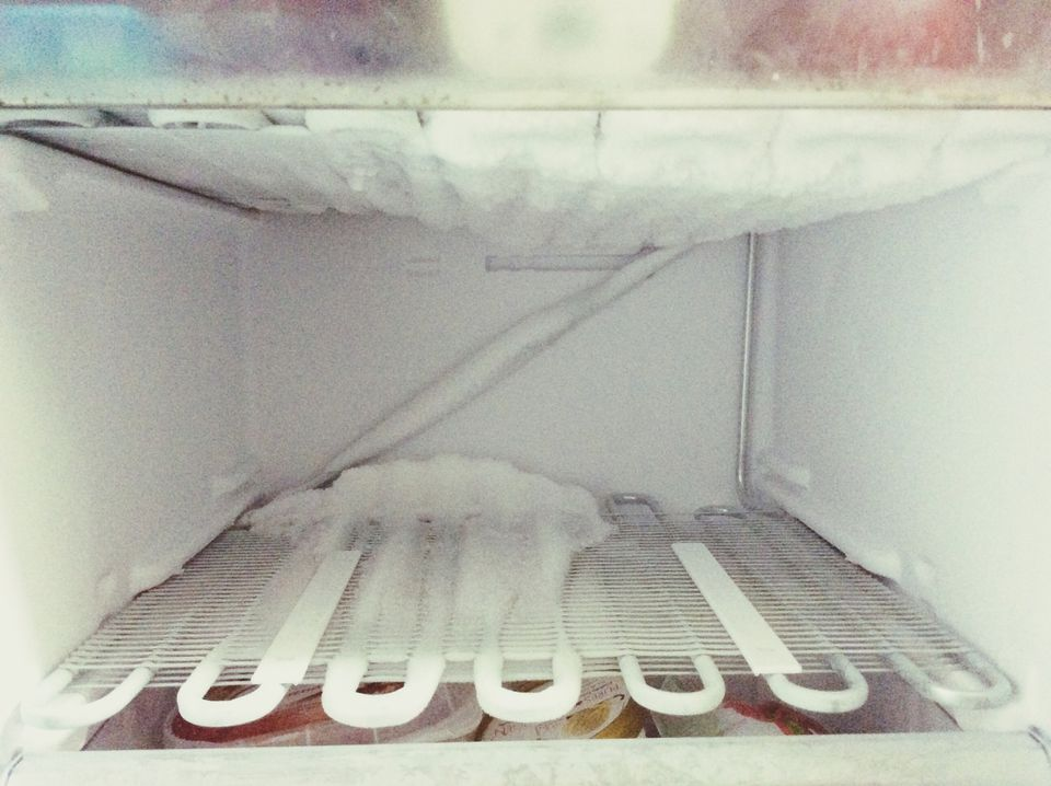 Ice In Freezer