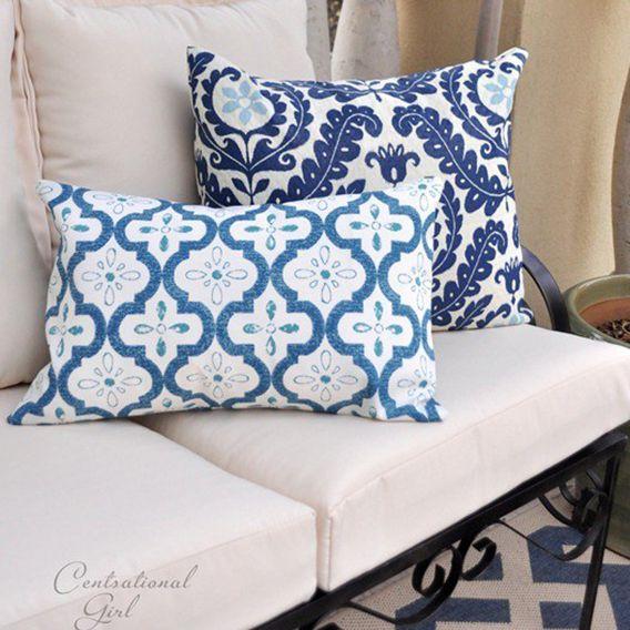 DIY patio decor - outdoor pillows