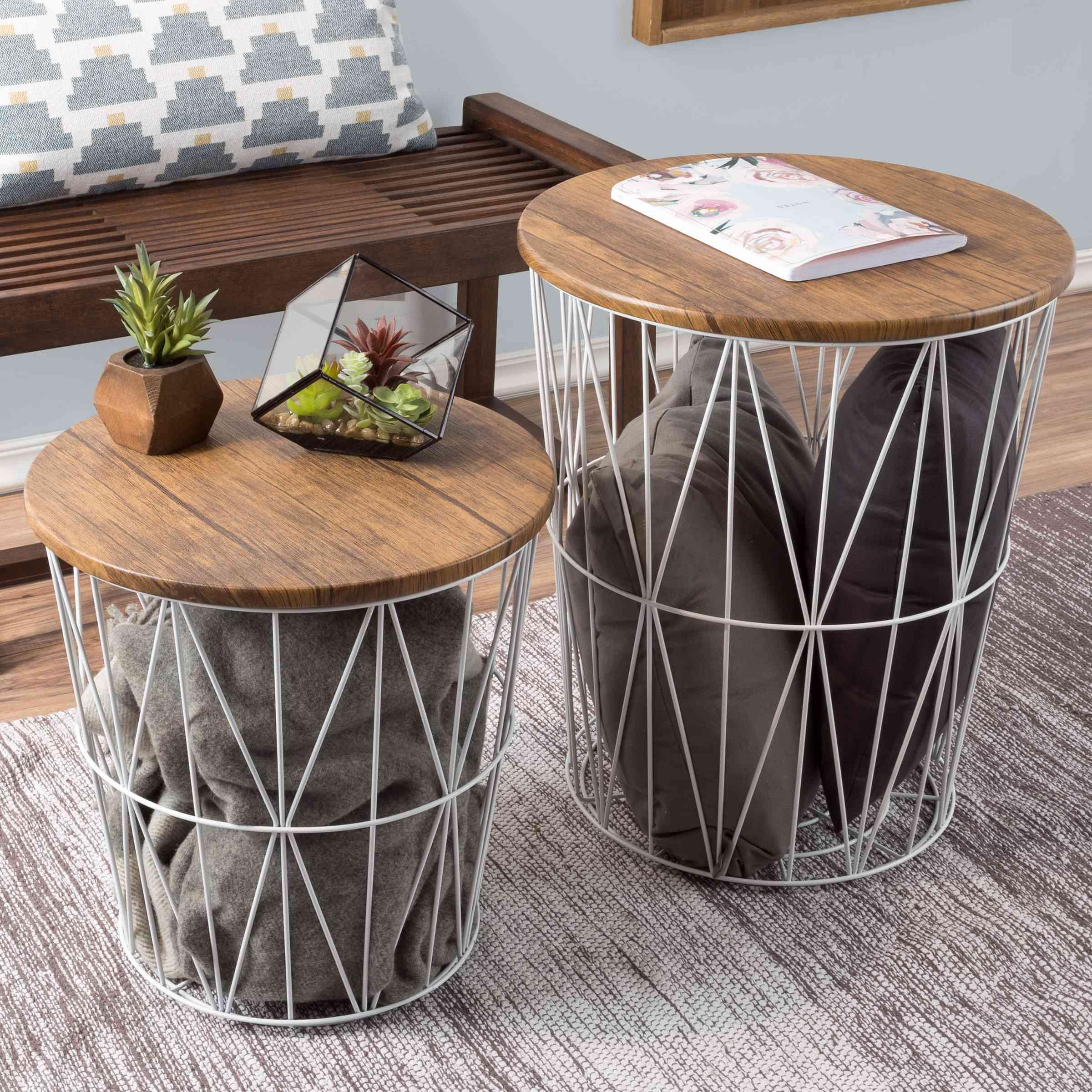 Lavish Home Nesting End Tables