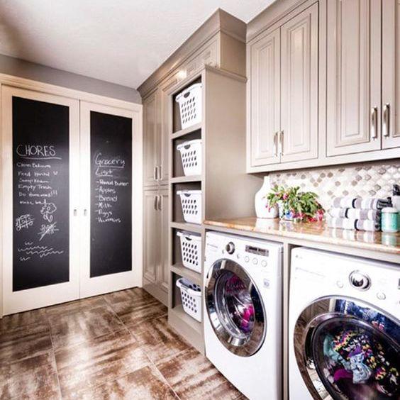 blackboard in laundry room