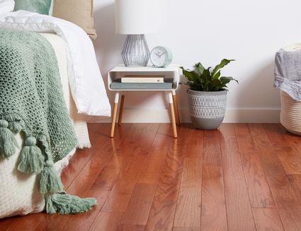 Bedroom hardwood floor