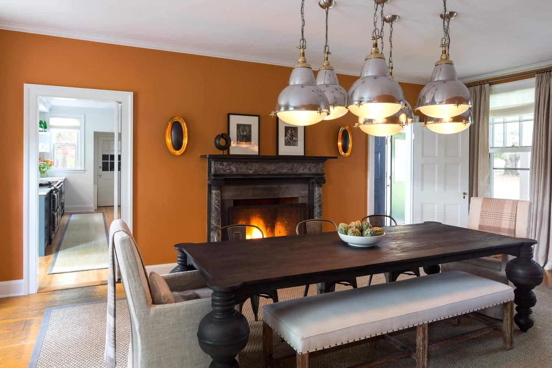 burnt orange dining room