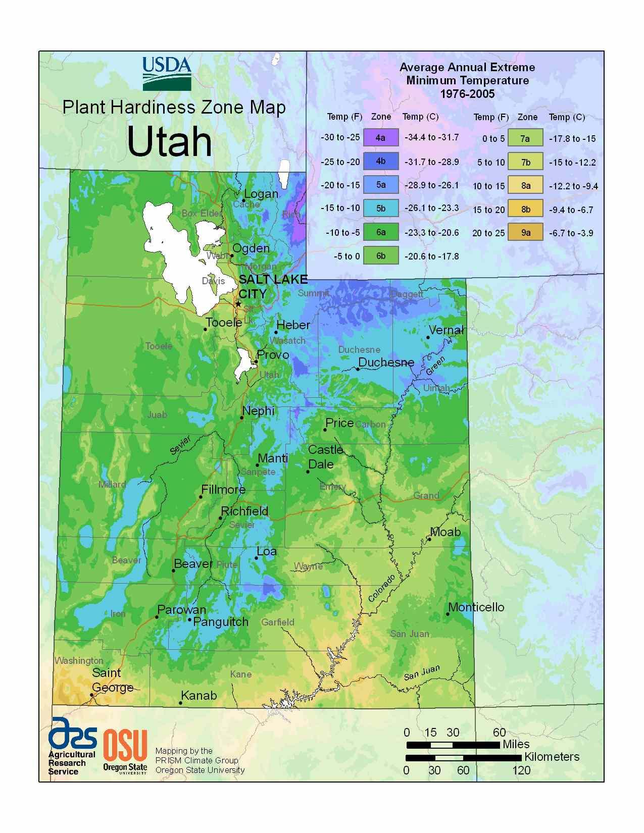 Photo of Utah Hardiness Zones
