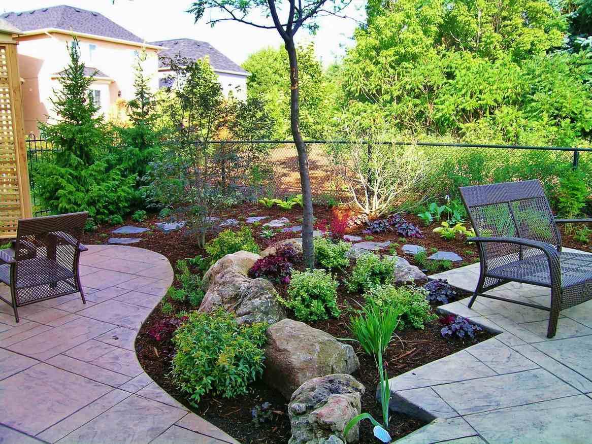 Garden Cut Out of Patio