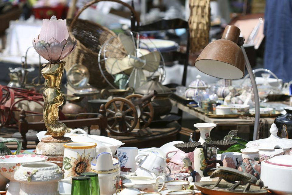 vintage finds at flea market antique fair
