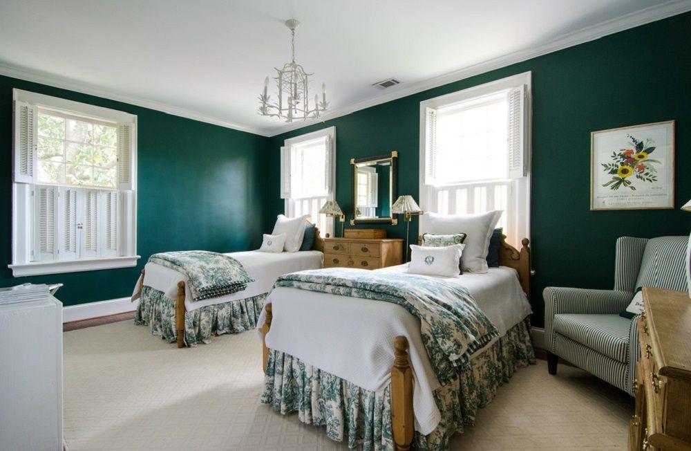decorating ideas for dark colored bedroom walls - Green Bedroom Walls