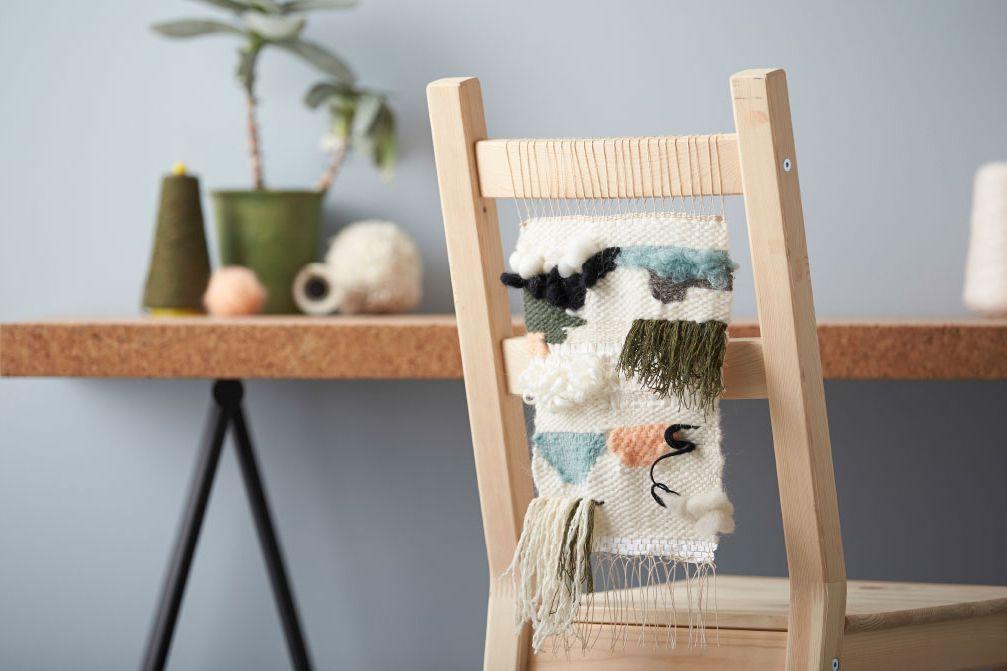 Colgante de silla tejida