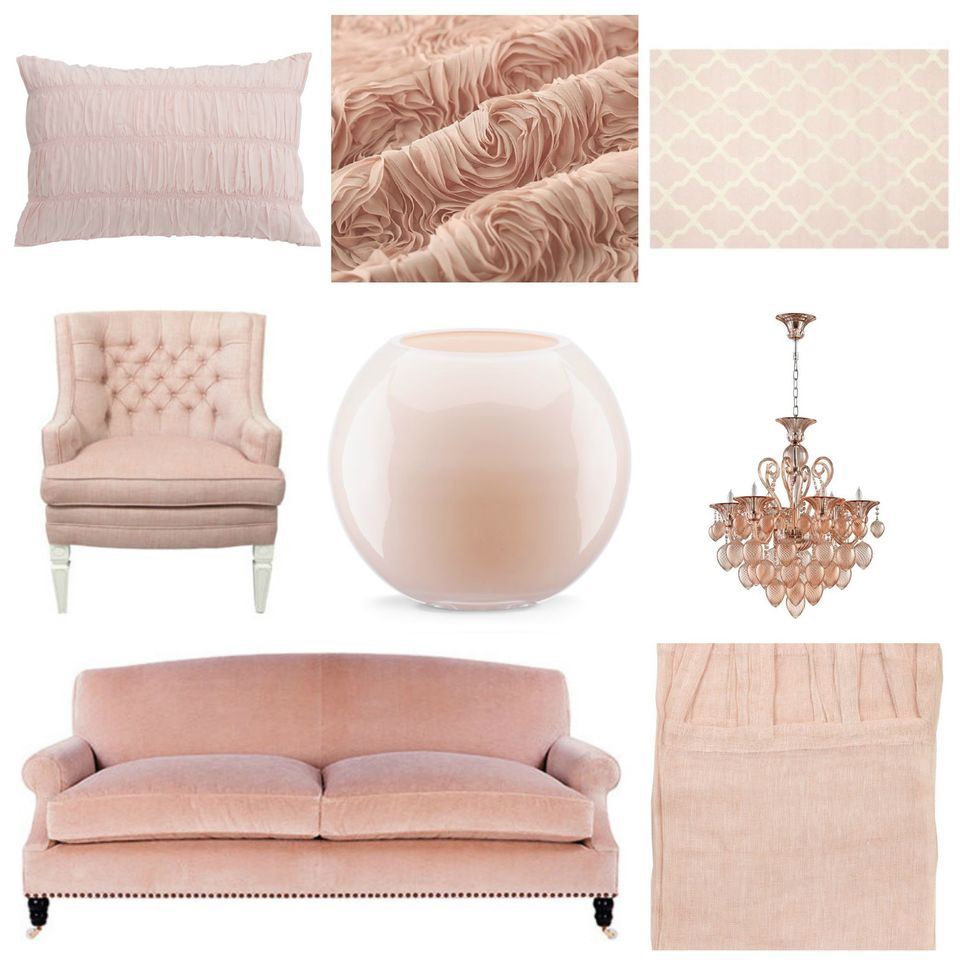 Blush Pink Mood Board