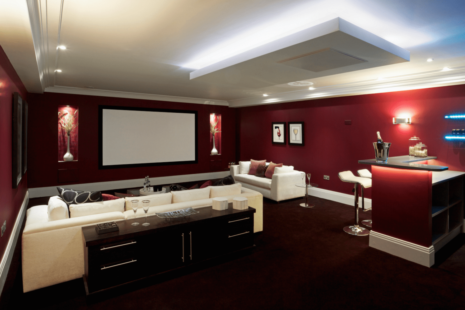7 Por Bat Color Ideas And Home Theater Decorating