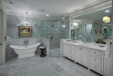 Beautiful Bathroom Design Ideas Beach Style Room With White And Gray Marble
