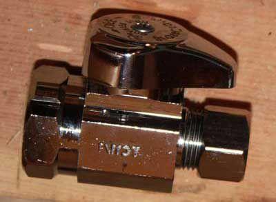 Straight stop valve