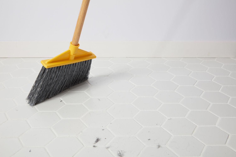 Sweeping glazed porcelain tile