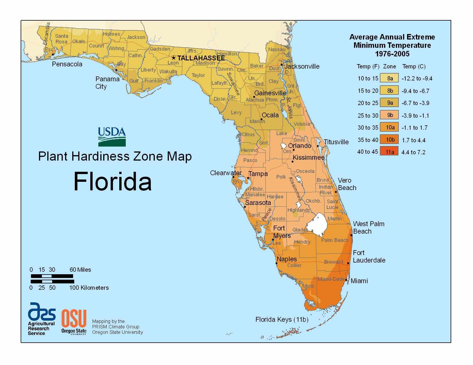 Photo of the Florida Hardiness Zones