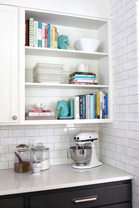 Cookbook Storage In Kitchen Cabinets
