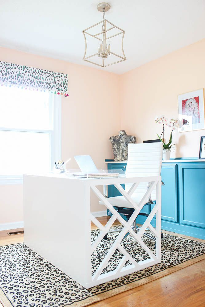 After - Colorful Home Office Makeover