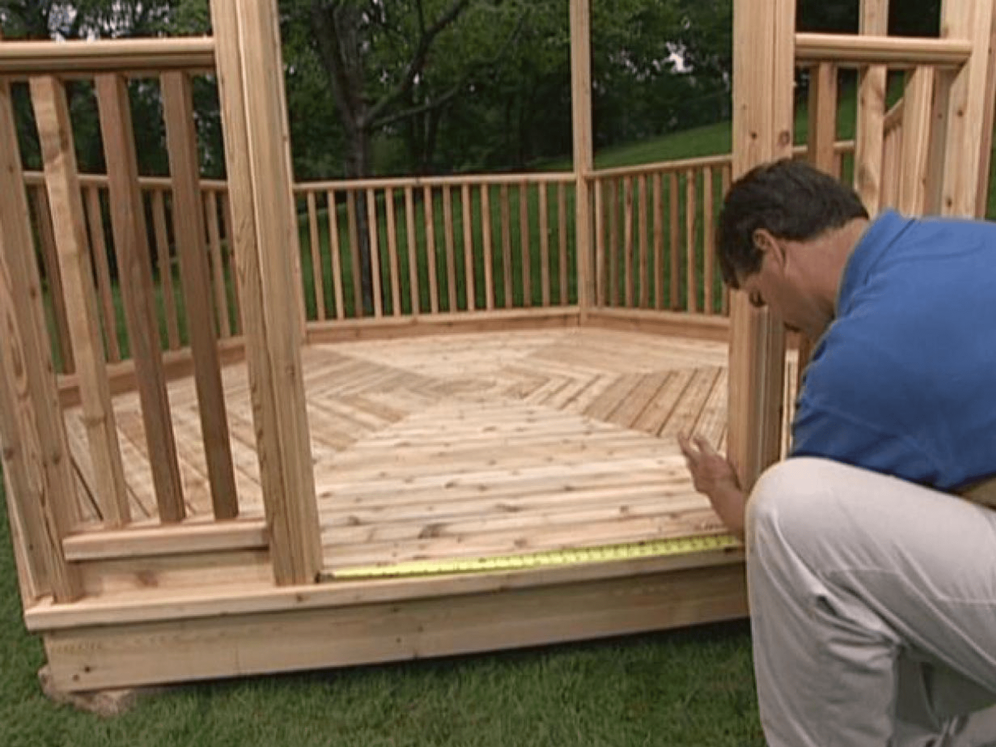 Picture Of A Man Building Gazebo