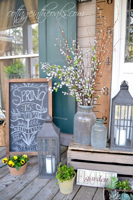 How To Decorate With Wooden Crates Front Porch