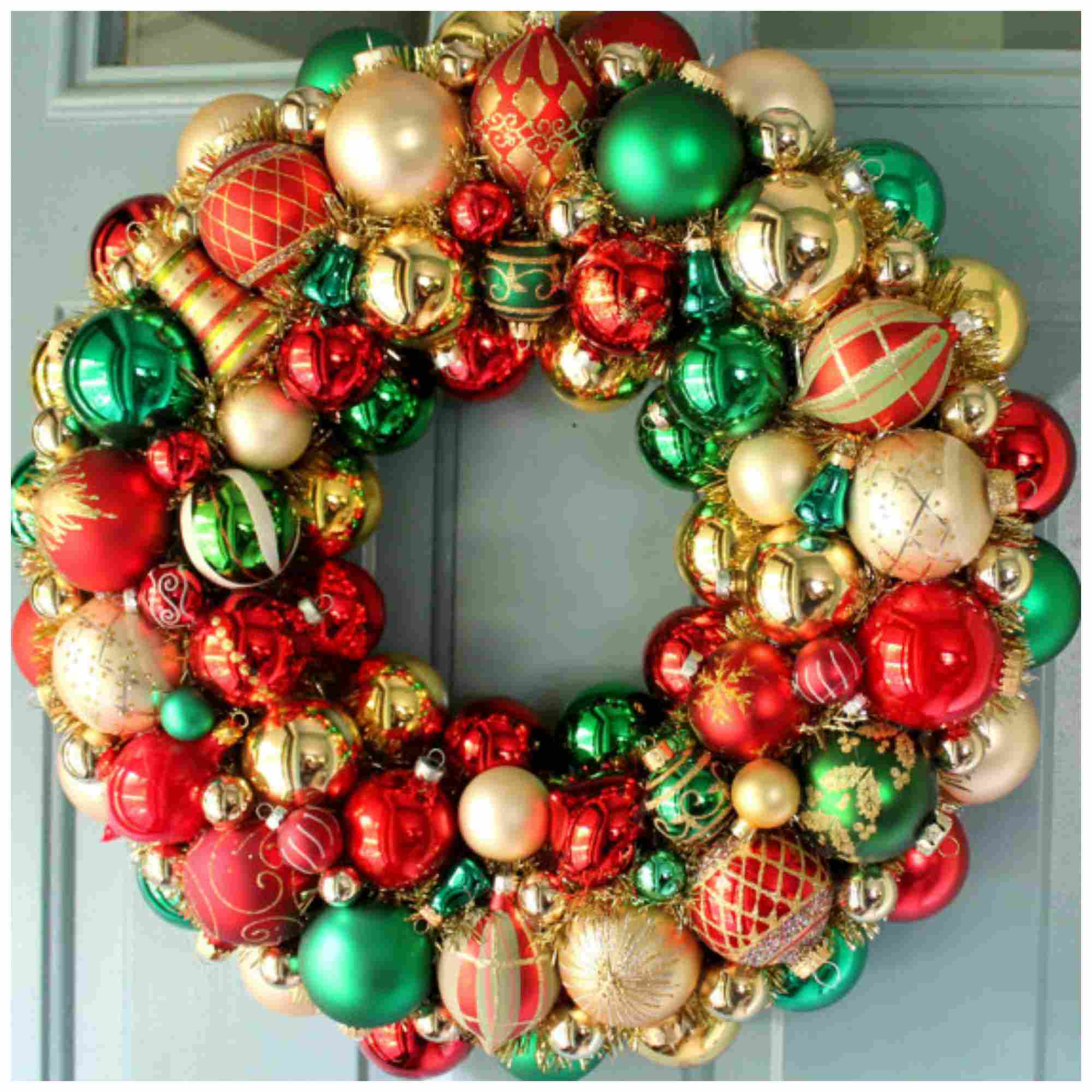 decorate a wreath ornament wreath