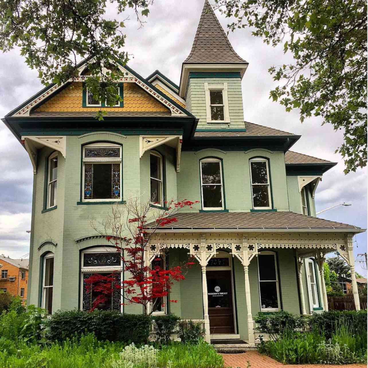 Turreted Victorian home