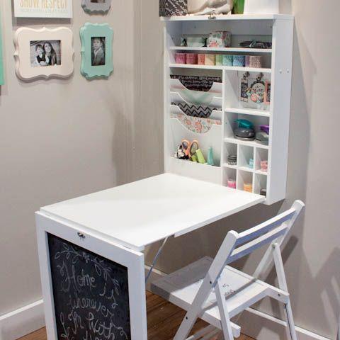 Fold-down homework station
