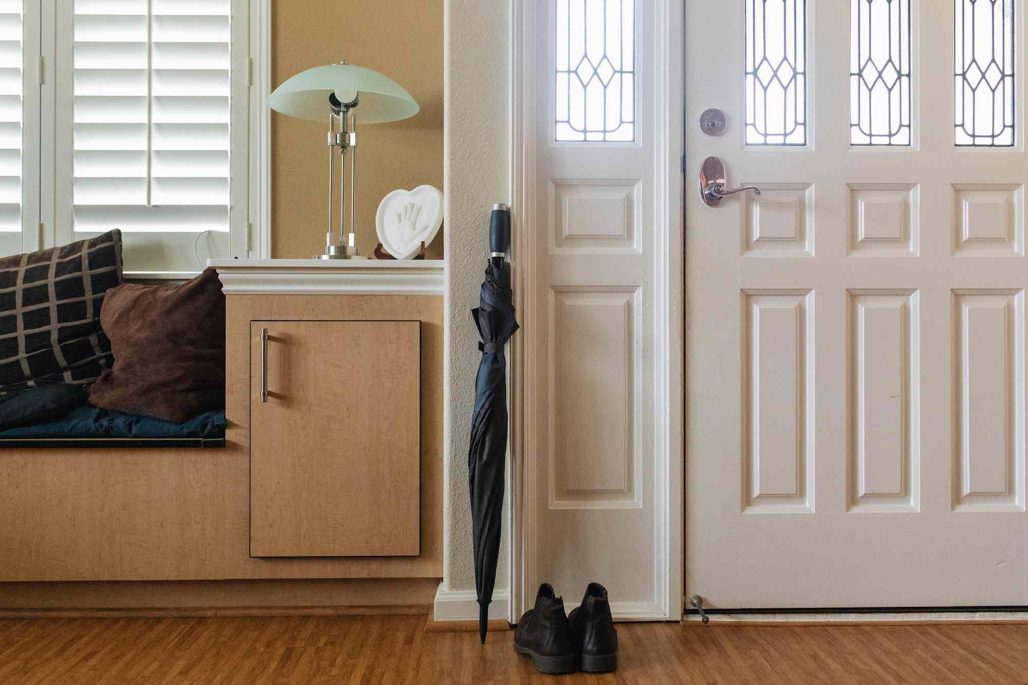 an organized entryway