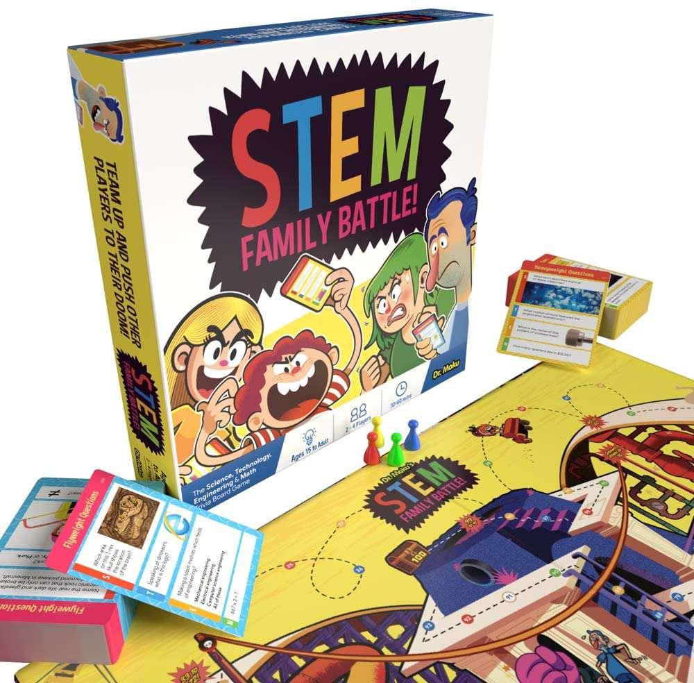 Dr. Moku STEM Family Battle Board Game