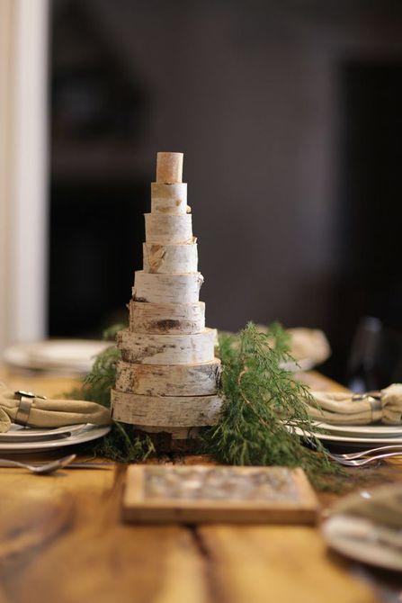 árbol de navidad de abedul