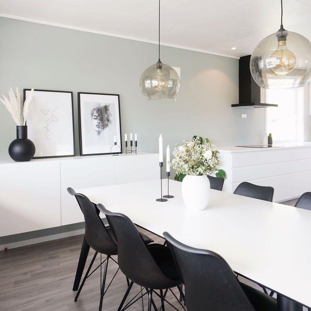 Minimalistic gray dining room