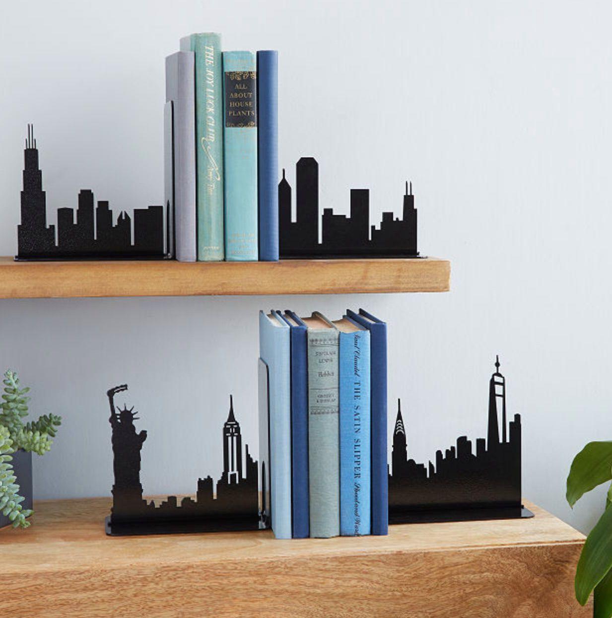 City Skyline Bookends