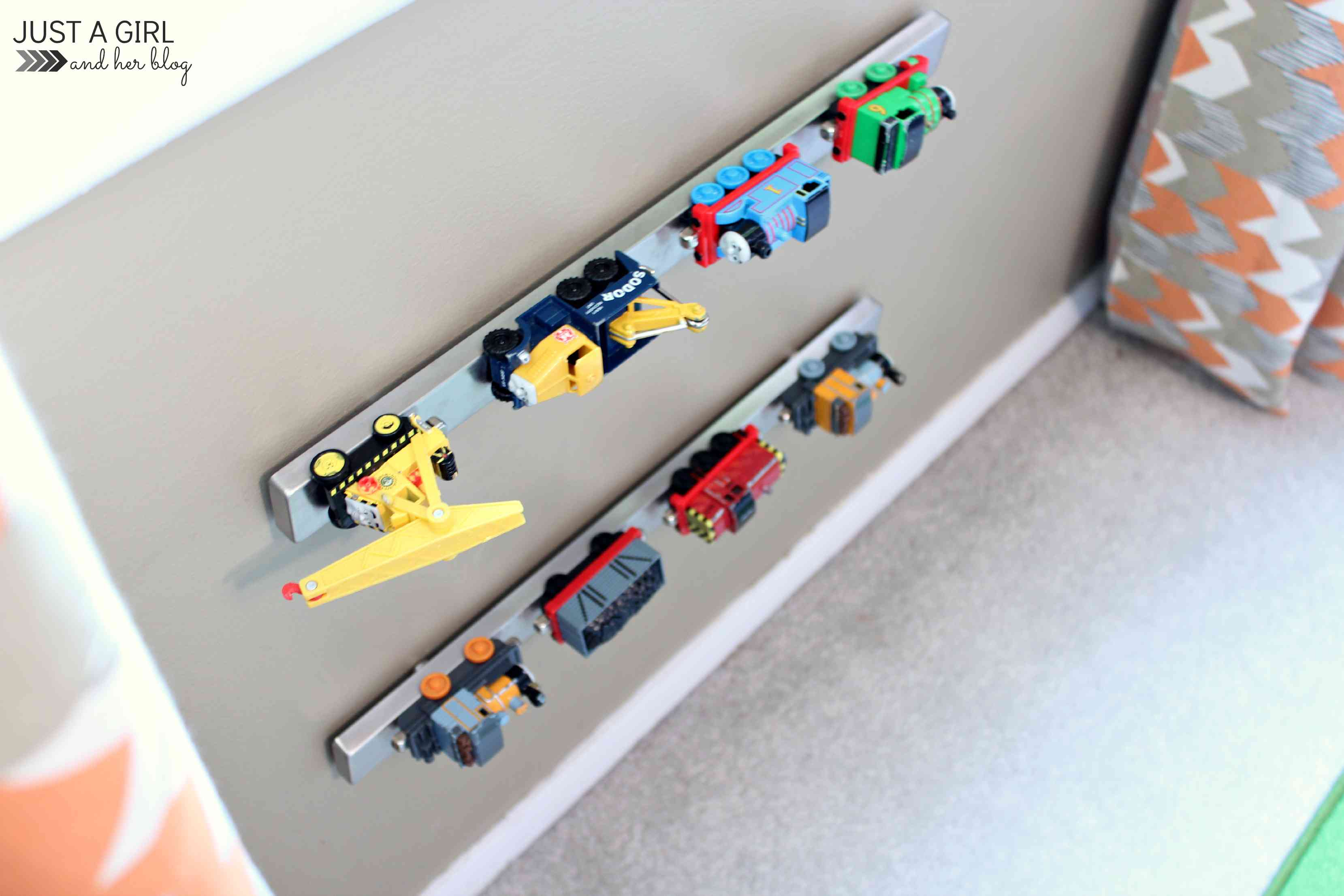Magnetic Toy Cars Wall Storage