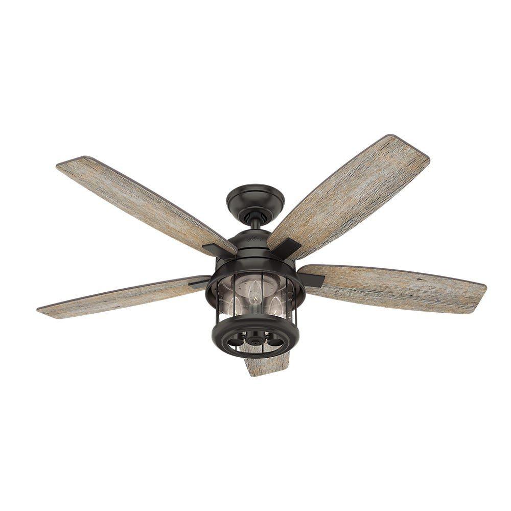 "Hunter Fan 52"" Coral Bay Outdoor Ceiling Fan with Light"