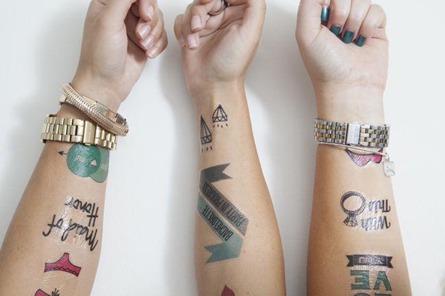 Tatuajes temporales para una despedida de soltera