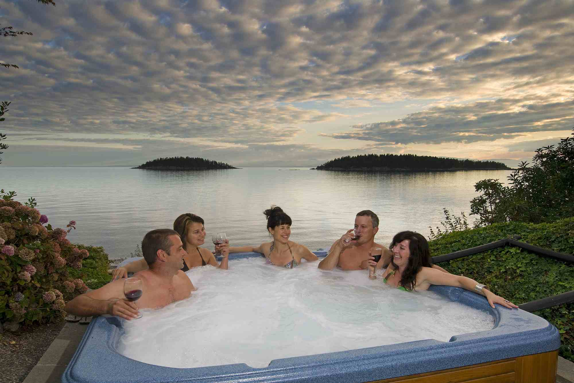 hot tub with view