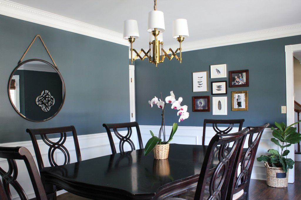 gallery wall in dining room