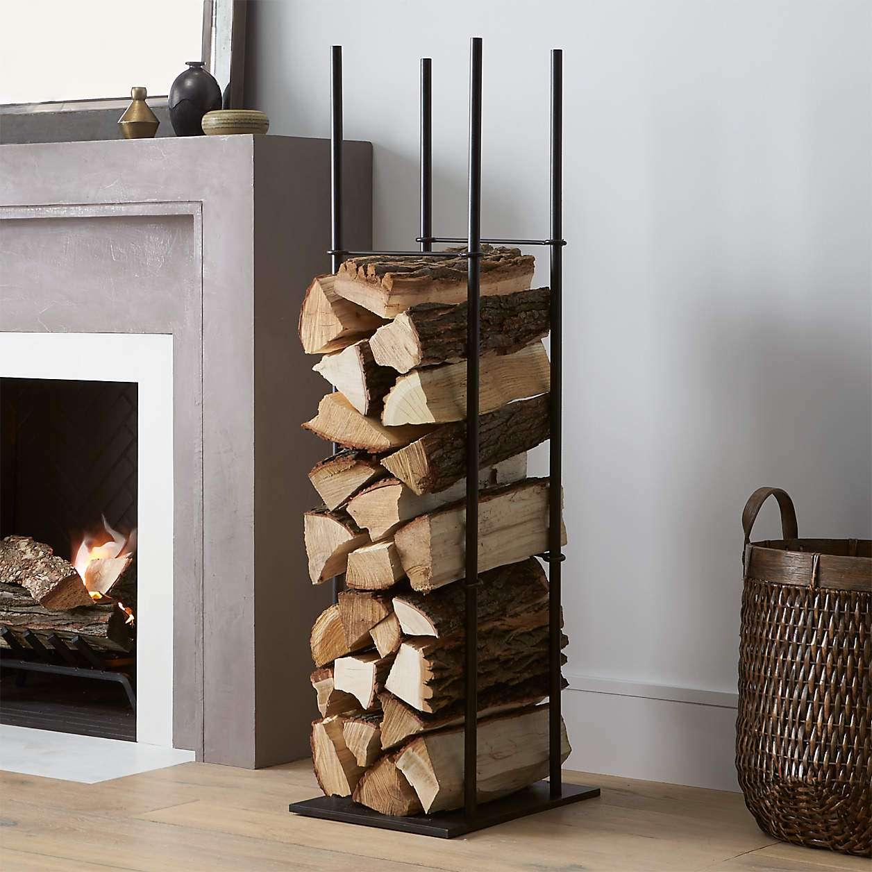 Crate & Barrel Frame Indoor/Outdoor Log Holder