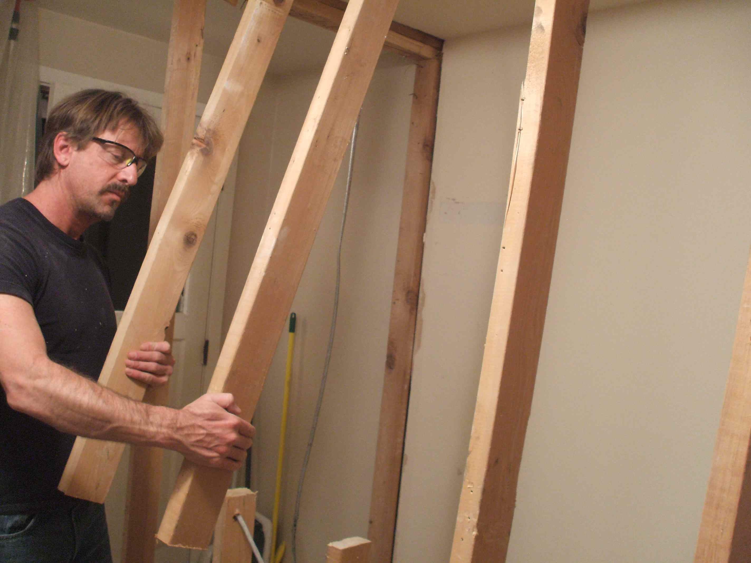 Removing the studs of an interior wall