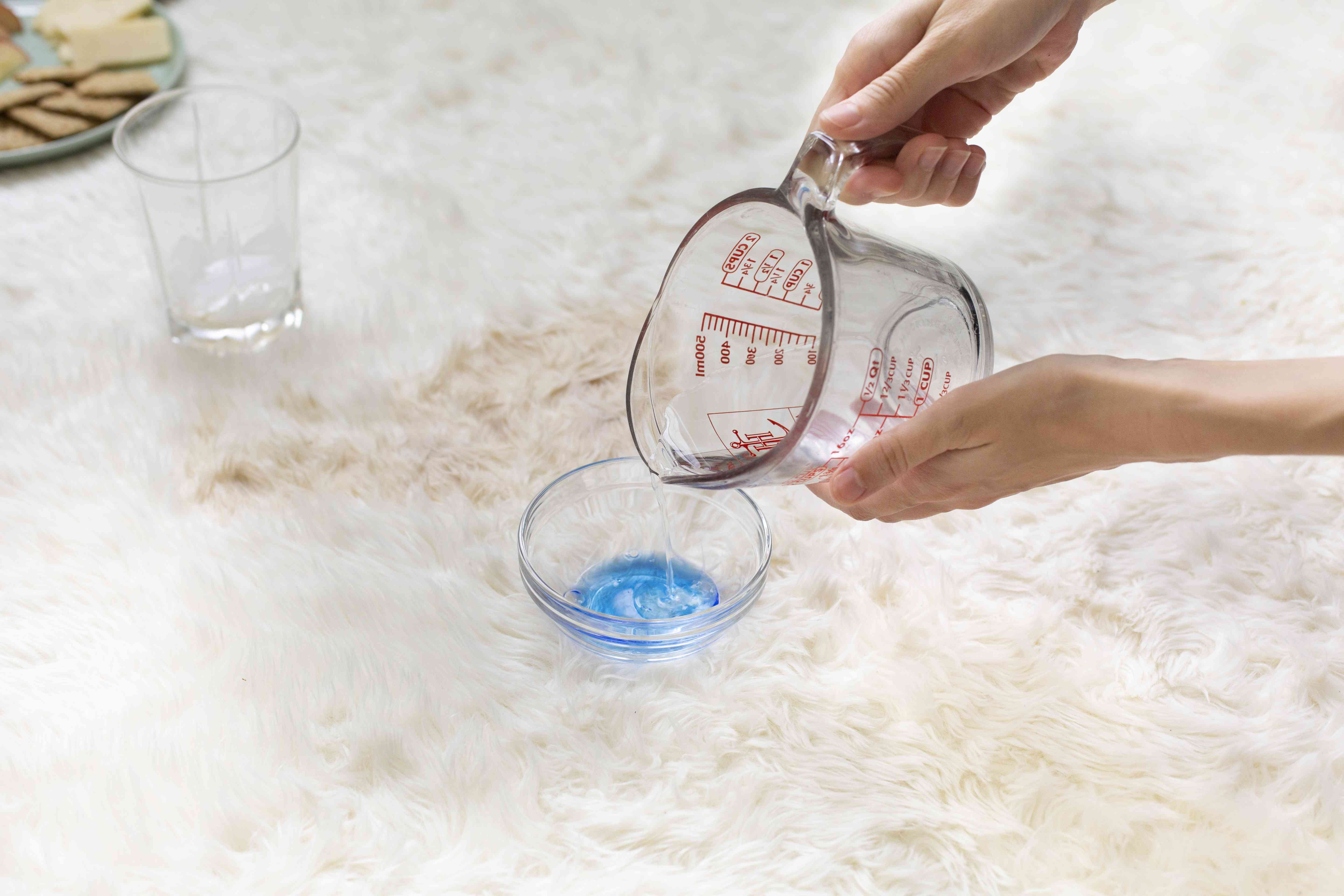 work detergent into the stain