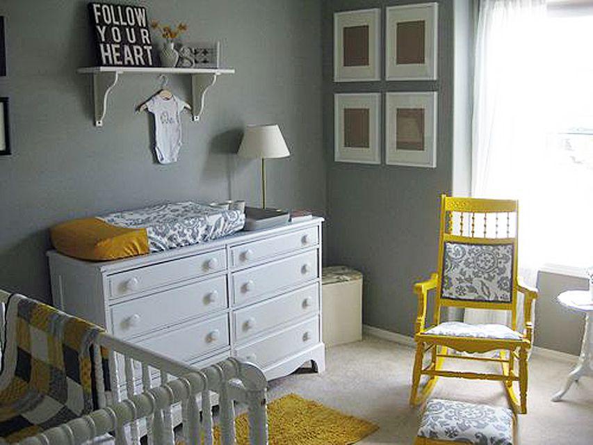 Vivero temático ducha de sol gris y amarillo