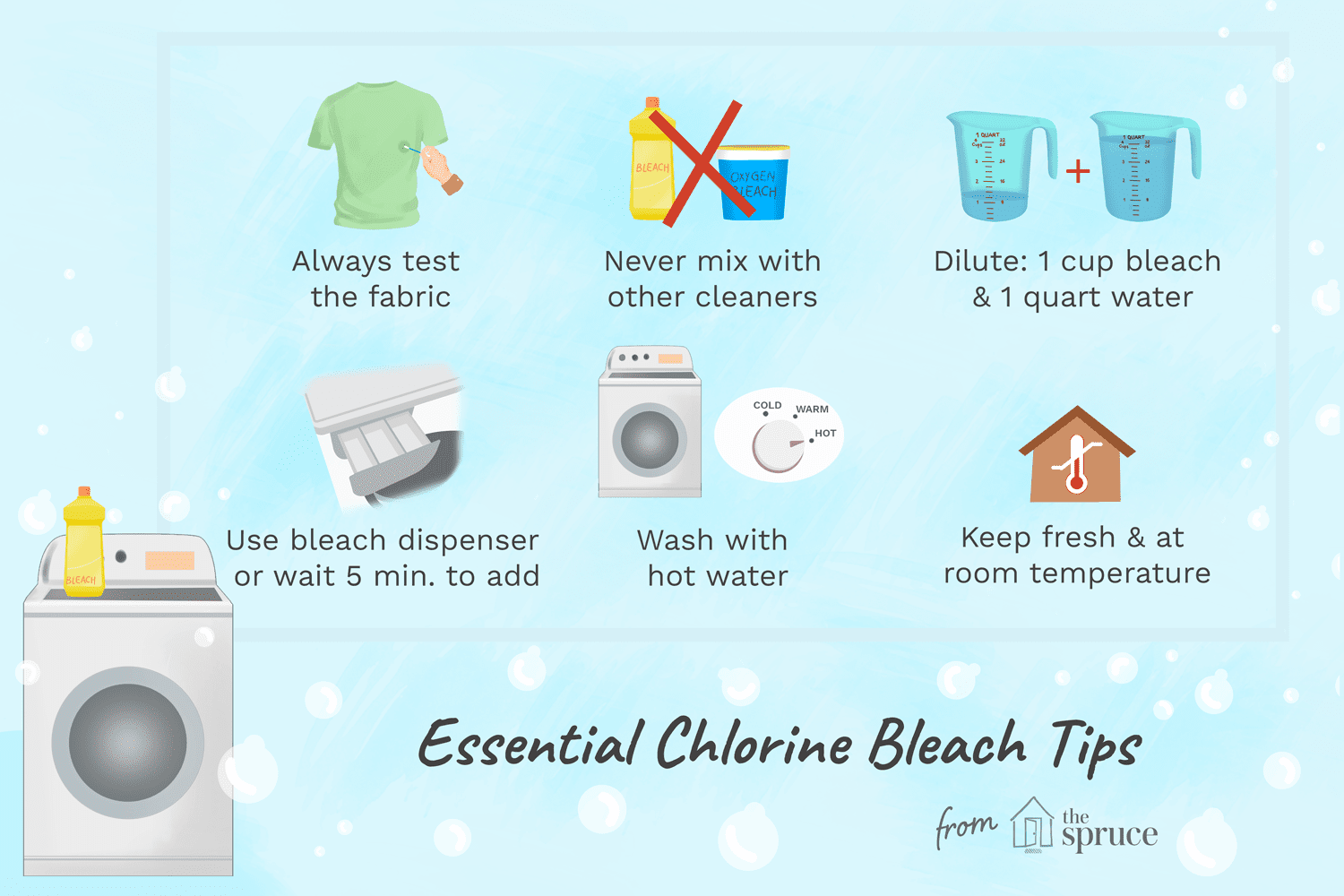 6 Chlorine Bleach Tips for Better Laundry Results