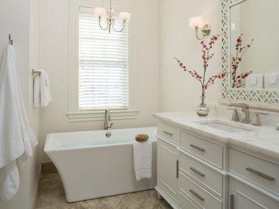 Luxury bathroom in white