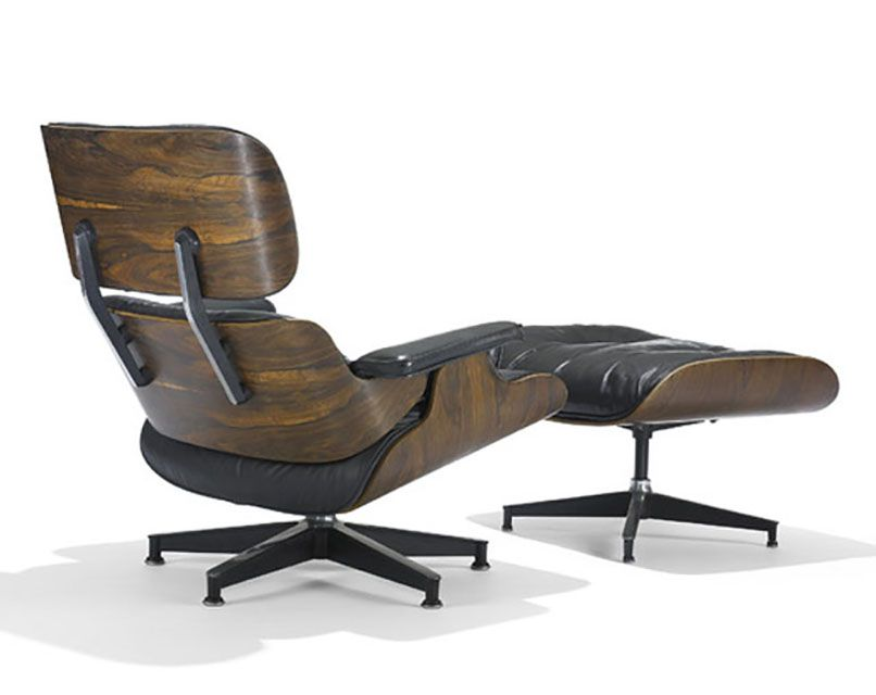 Eames Lounge Chair and Ottomon, 1956. - Photo Courtesy of Wright - How To Identify A Genuine Eames Lounge Chair