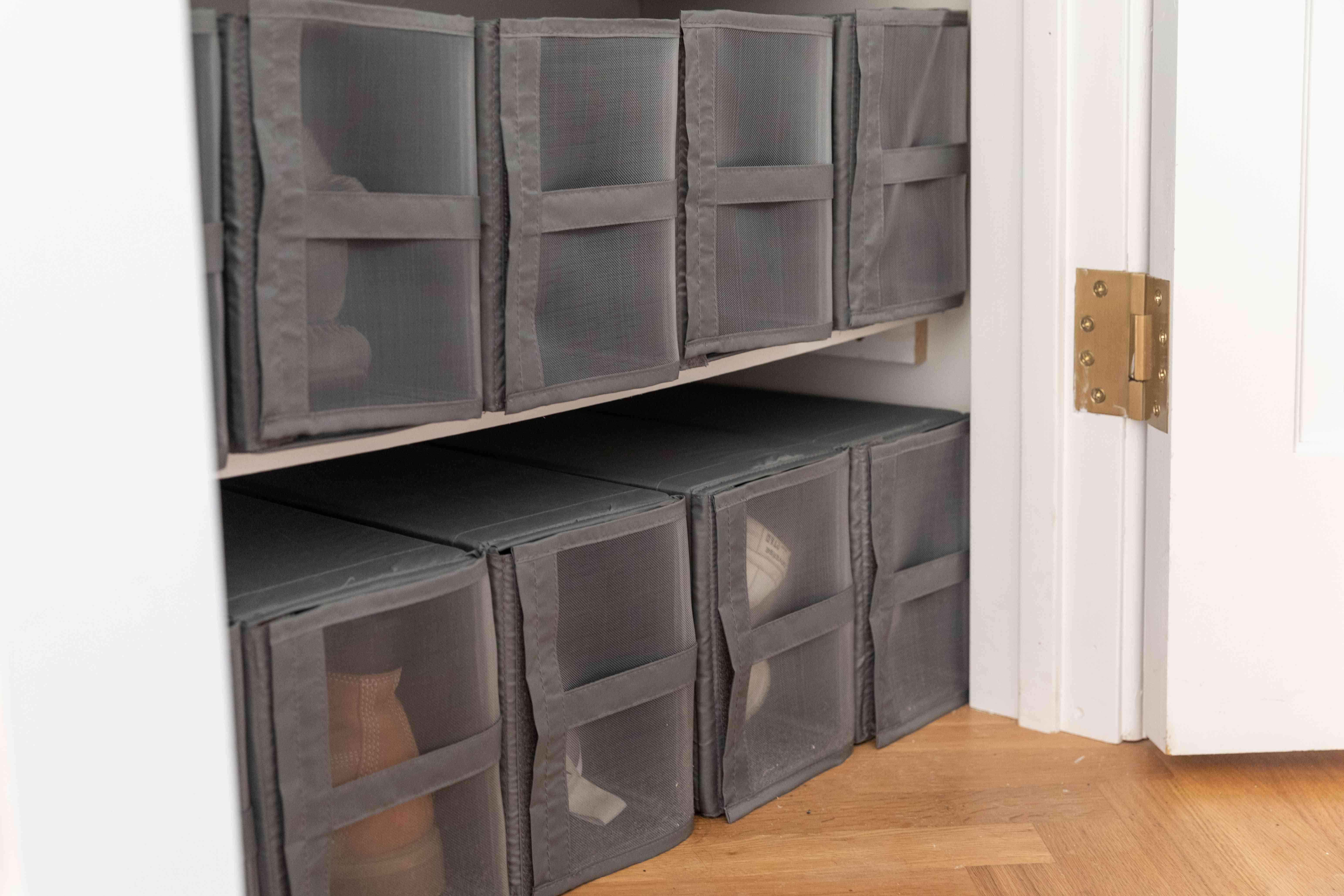 storage cubes for closet size